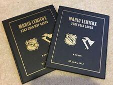 MARIO LEMIEUX ROOKIE AND COMEBACK & MVP 5 ~ 22 KT GOLD CARD SET UDA DANBURY MINT