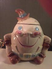 Vintage Humpty Dumpty Ceramic Pottery Cookie Jar, Brush McCoy W-29, Very Nice