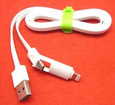 2 in 1 Ladekabel Datenkabel Micro USB Nokia Sony iPad 4 iPad Mini 2 3 iPad Air 2