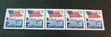 US PNC Stamp Scott# 2609 Flag Over White House 1992 MNH Strip of 5 P# 10 L369