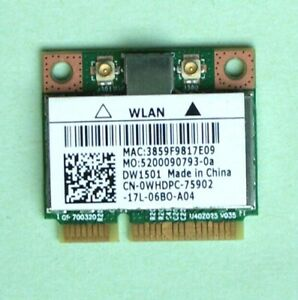 Dell Wireless DW1501 Wlan Broadcom BCM94313HMG2L WiFi 802.11b/g/n 150Mbps 0WHDPC