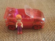 Polly Pocket Wheels Race to the Mall Cars Origin Mini Drivers Red Convertible