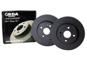 RDA OE Replacment Brake Rotor Pair Front RDA631 fits Ford Courier 2.0, 2.0 (P...