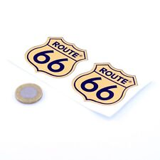 Route 66 Autocollants Badge Decal Vinyle Voiture 50 mm course x2 RALLYE USA MOTHER ROAD