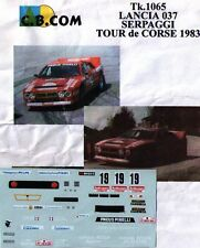 decal 1/43 LANCIA RALLYE 037 TdC 1983 SERPAGGI-EMANUELLI CB-COM 1065
