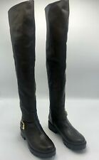 Guess Womens Boots Size 5.5 Tall Laniet Over The Knee Stretch Faux Leather Brown