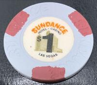 Sundance Casino Las Vegas NV $1 Chip 1980 - House Mold