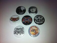 7 lynyrd skynyrd Button Badges Free Bird Tuesdays Gone That Smell Curtis Loew