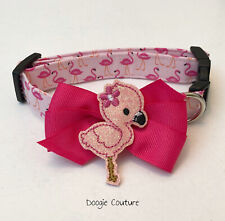 Fabulous Flamingo Dog Collar Size XS-L by Doogie Couture