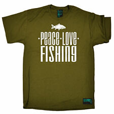 DW Peace Love Fishing T-SHIRT Fish Gear Accessory Clothing Gift birthday funny