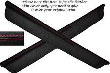 RED STITCH 2X DOOR SILL TRIM SKIN COVERS FITS MITSUBISHI FTO 1994-2001