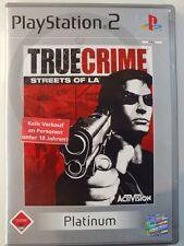 PLAYSTATION PS2 GIOCO True Crime Streets of L.A. USK18, usato ma BENE