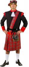 Schotte Schottenkostüm Schottenrock Jacke Rock Mütze Highlander Kostüm Herren