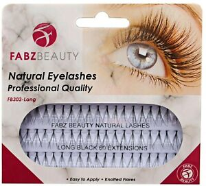 60 Stand Individual Flare Cluster Eyelashes Knotted False Lash Natural Looking