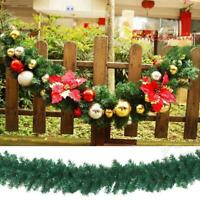 Christmas Garland Rattan Ornaments Tree Gree Simulate Plant Wreath Decor 2.7m
