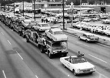 1965 Chrysler Dealer with 4 car carriers full of Barracudas 8 x 10 Photograph