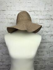 4d2ed8659c4cbc D&Y Women's Brown Knit Sun Hat Floppy Brim One Size Fits Most
