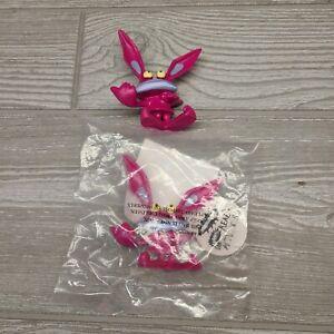 "Vintage AAAHH Real Monsters Ickis 3"" Pink Figure Cartoon Hardees Toy 1995 Lot"