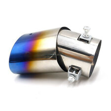 Universal Car Muffler Tip Exhaust Pipe Stainless Steel Chrome Effect