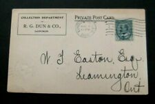 Canada-1906-Used Postcard-Dun & Co, London