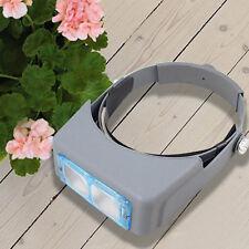 4 Lens Head Band Magnifier Loupe Watch Repair Optivisor Eye Welding Head Tool