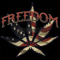 Freedom USA America Marijuana Weed Pot Leaf 420 Kush Patriotic Funny T-Shirt Tee