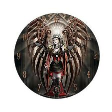 "AVENGER  - FAIRY WALL CLOCK by ANNE STOKES 13 1/4""  - NEW  lower price"