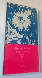 "•RARE• 1969 ~SISTER CORITA KENT~ ""I In Daisy"" SIGNED Framed Serigraph Print"