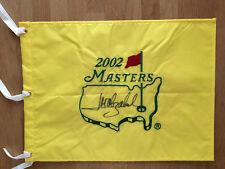 Jose Maria OLAZABAL SIGNED AUTOGRAPH 2002 Golf Flag Masters AFTAL COA