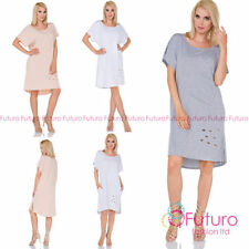 Round Neck Casual Dresses Oversize
