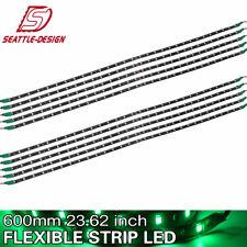 10X Green 2Ft/30LED Flexible Light Strip Bar for Car Motorcycle Truck Boat 12V