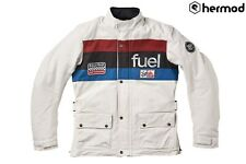 Fuel Motorcycles Rally Raid Waterproof Adventure Jacket - White