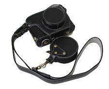 Real Leather Full Camera Case Bag Cover for Fuji Fujifilm x100f  X100 F Black