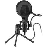 Double Layer Studio Microphone Holder Mic Wind Screen Mask Spray shield+ Tripod