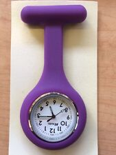 Purple Silicone Removable Case Ladies Gents Pin Fob Watch Ravel R 1103.7