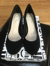Bamboo Kinder - 04V Shoes Black Block Heel Pump Size 6 NEW
