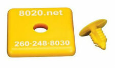 New 80/20 8020 1515 T-Slot Protective End Cap Yellow Plastic Cover Plate