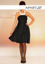 Apart Abendkleid Gr. 42 44 schwarz Chiffon mit Perlen Cocktailkleid Kleid NEU