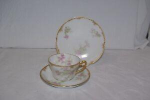 Antique Art Nouveau Tea Trio Delinieres Limoges for R Maule Edinburgh