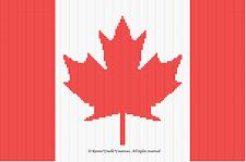 Crochet Patterns - FLAG CANADIAN afghan pattern
