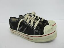 Vintage Retro Converse Low Top Kids' Shoe in Black Size: 1