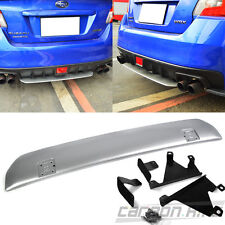 Painted Silver For Subaru WRX STI 4D Sedan Rear Bumper Diffuer Under Lip Spoiler