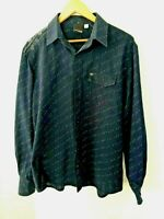 """Rip Curl Men's size M  Shirt  """"The Search"""" Navy Blue Long Sleeve Casual Cotton"""