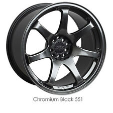 XXR 551 17x8.25 4x100 4x114.3 +22 ET CHROMIUM BLACK NEW SINGLE WHEEL (1) CONCAVE