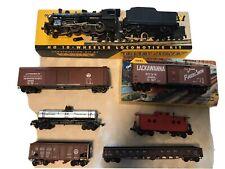 Vintage Varney HO Locomotive Train Casey Jones Train 2155 & Tender + 6 HO Cars
