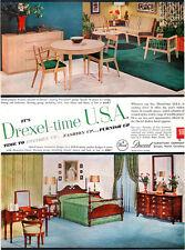 Drexel Furniture PRECEDENT Hampton Court SEATING GROUP Bedroom 1954 MAGAZINE AD