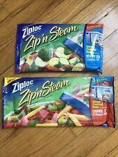 New listing Ziploc Zip 'n Steam Bags Steam Cooking Bags 1 Pack 10 Count-1 Pack 7 Count