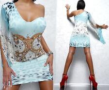 NEU UNIQUE BRAND SUPER FAMOUS SEXY FIT I20 HOT DAMEN STRASS TOP DRESS KLEID XL
