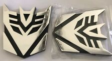 2 piece chrome Decepticon Transformers Emblems Badge Car Stickers Shipping G1 G2