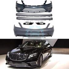 Auto Body Kits Bumper Side Skirts For Mercedes-Benz W222 S-Class 2013+ AMG S65